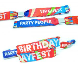 birthday party wristband favors