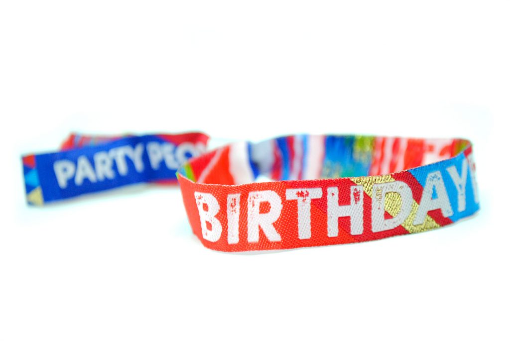 birthdayfest party wristbands