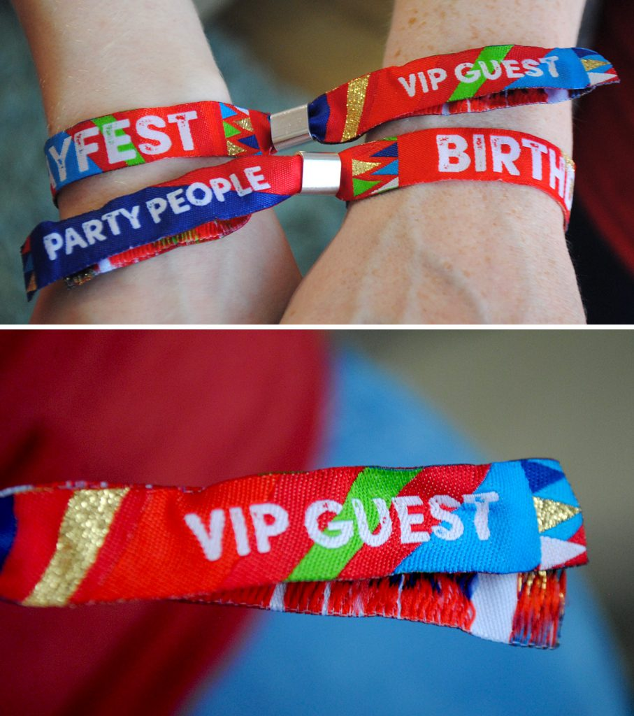 generic festival birthday wristbands