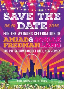 new york new jersey festival wedding save the date