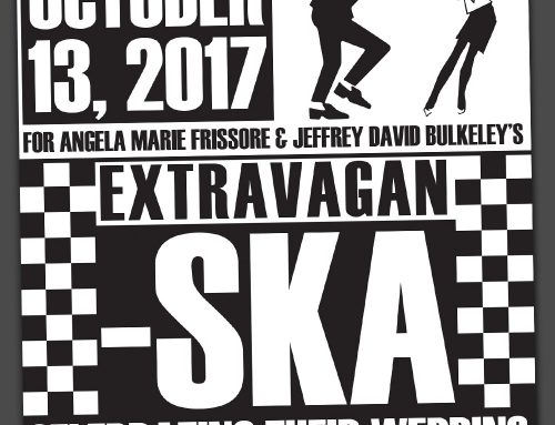Ska Music themed Wedding Save the Date / Invitation