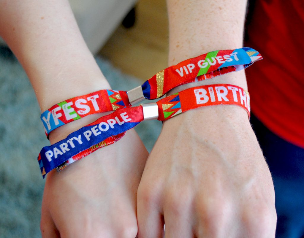 vip birthday party wristband accessories