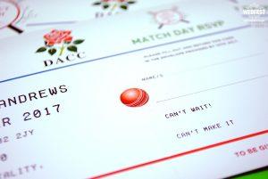 cricket themed wedding invitation