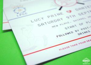 cricket themed wedding invitations