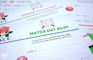 cricket ticket wedding invitations