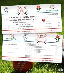 cricket wedding invitations
