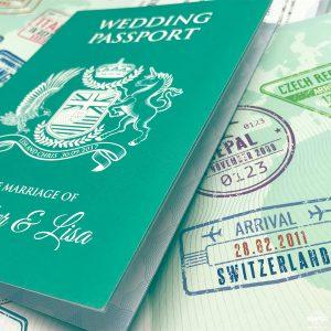destination wedding passport invitation