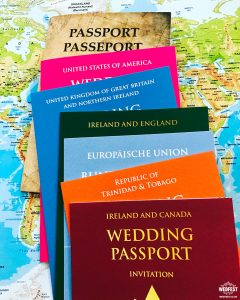 international passport style wedding invitations