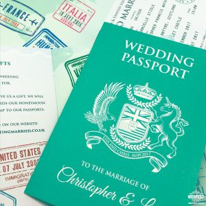passport to love wedding invitation