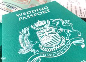 passport to marriage wedding invite