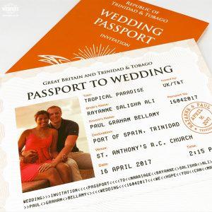 personalised wedding passport invites