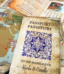 travel passport wedding invite