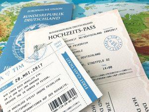 wedding passport boarding card