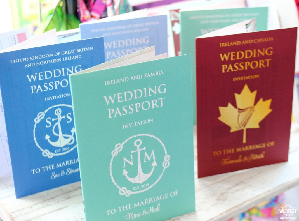 wedding passport invites