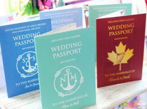 wedding passport invites