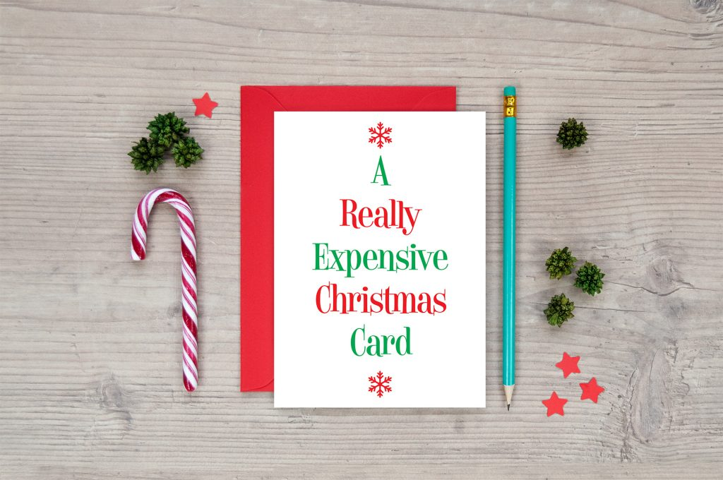 a really expensive christmas card funny xmas cards