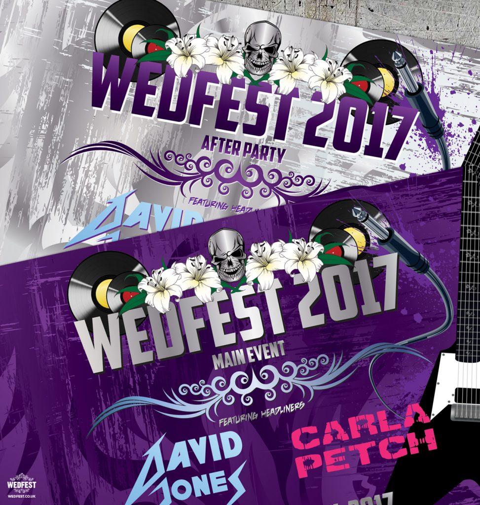 download festival rock music wedding invitations