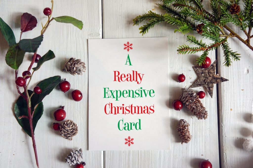 funny merry christmas card stationery