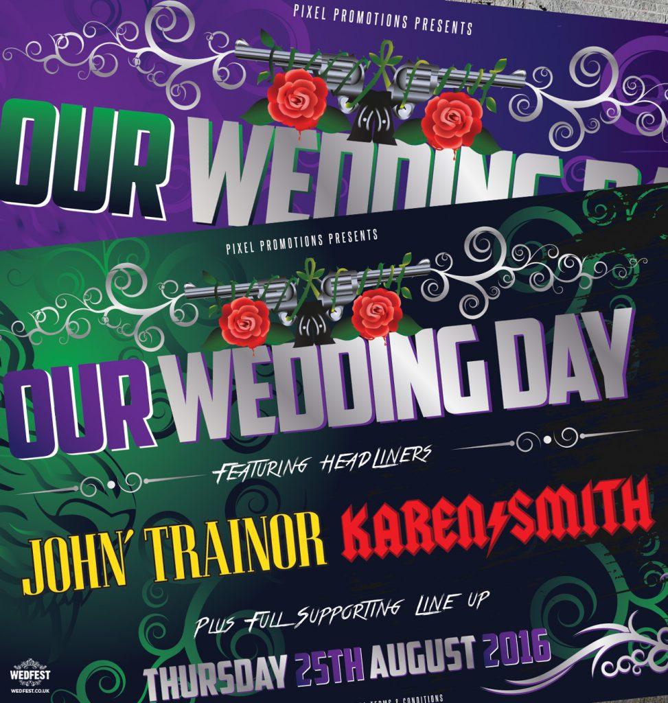 heavy metal concert ticket wedding invitation