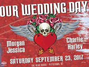 heavy metal rock tattoo wedding invitation