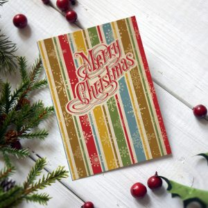 rustic style vintage retro christmas cards