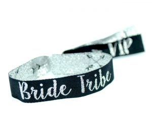 brides tribe silver black hens party accessories