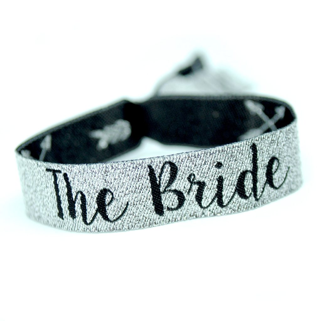 the bride team bride silver-hen do wristband accessories