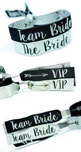vip team bride wristbands hen night ideas