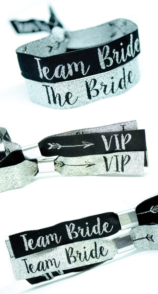 vip team bride wristbands hen night ideas