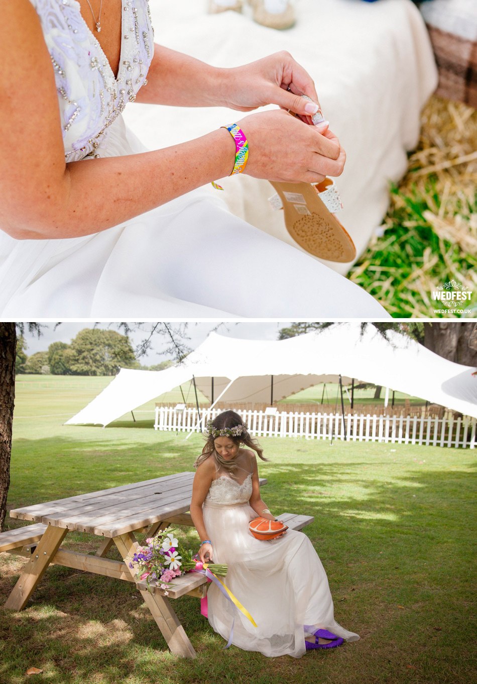 festival brides wedding wristbands