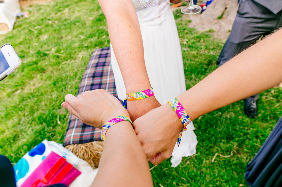 festival wedding wristband favours