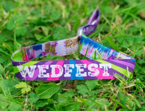Festival style wristbands for weddings