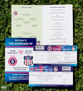 football programme wedding order of service booklet