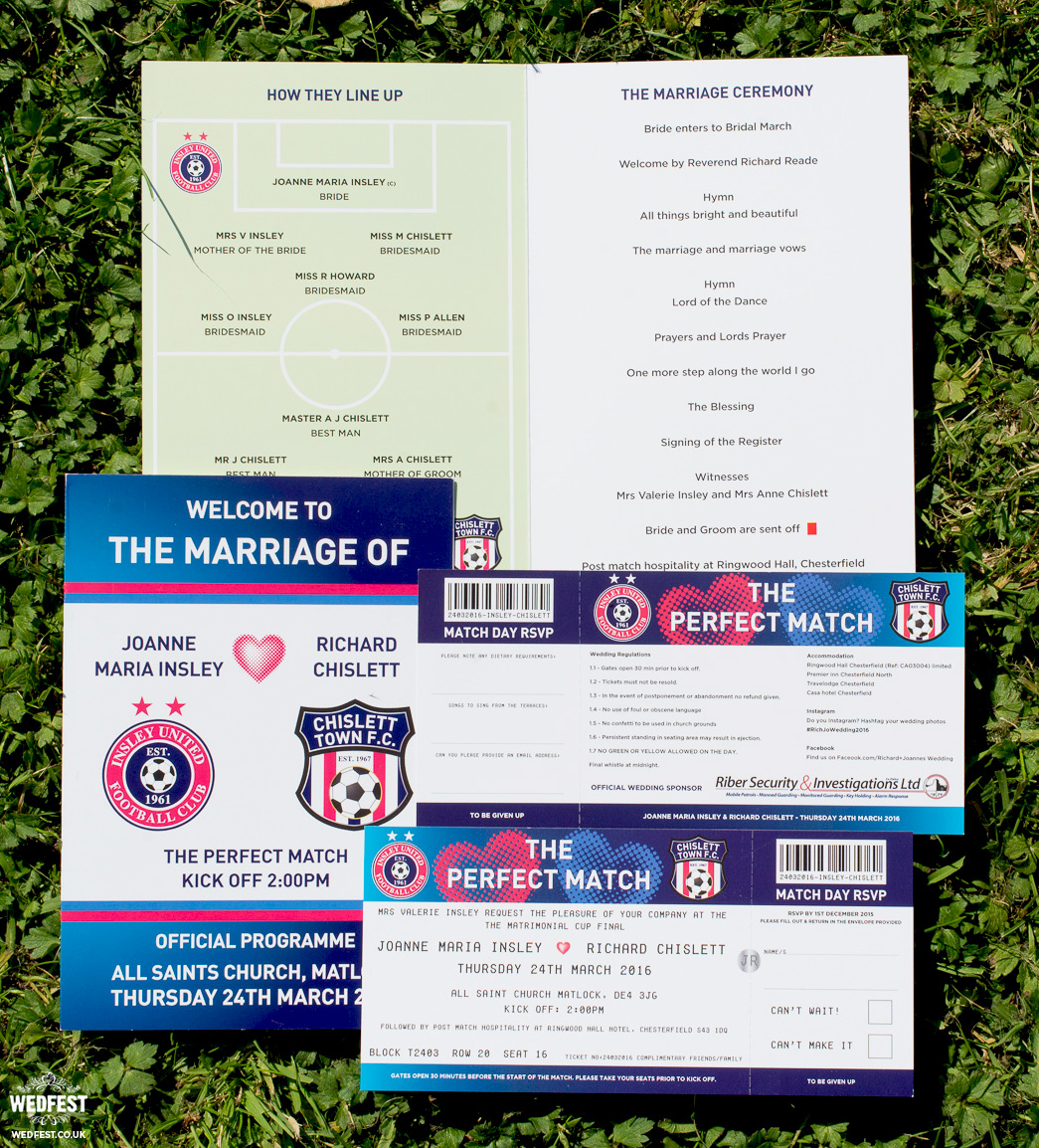 football programme wedding order of service booklet