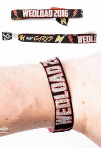 rockers wedding wristbands
