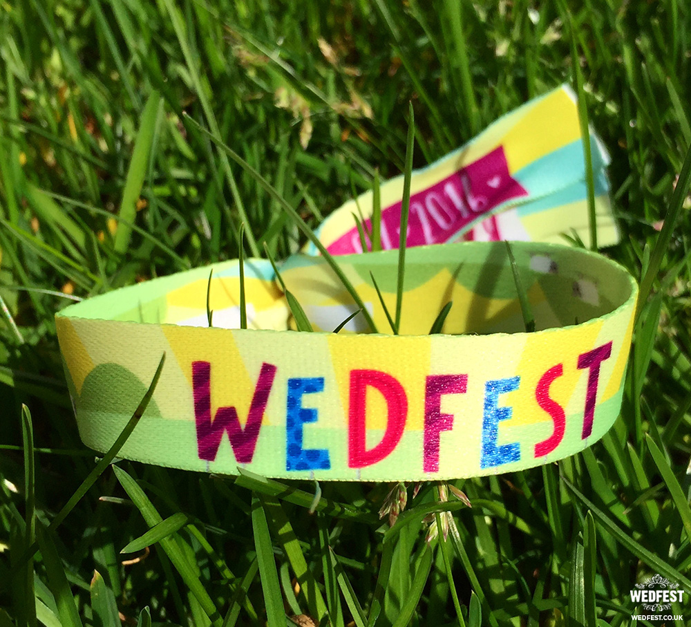 unique wedfest wedding favour wristbands