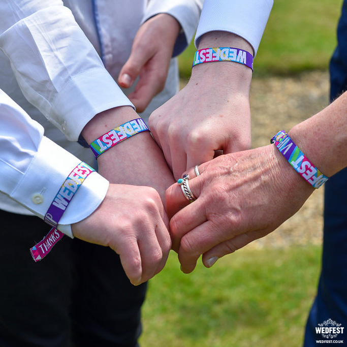 unique wedfest wedding wristbands