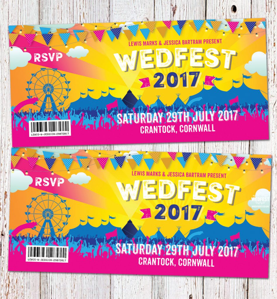 wedfest festival wedding invites