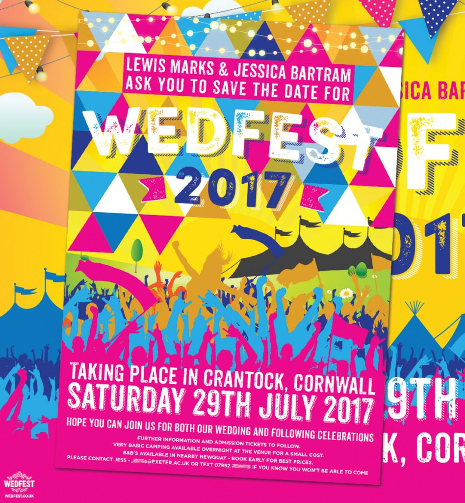 wedfest festival wedding save the dates