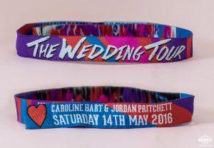 woven fabric wedding festival wristbands