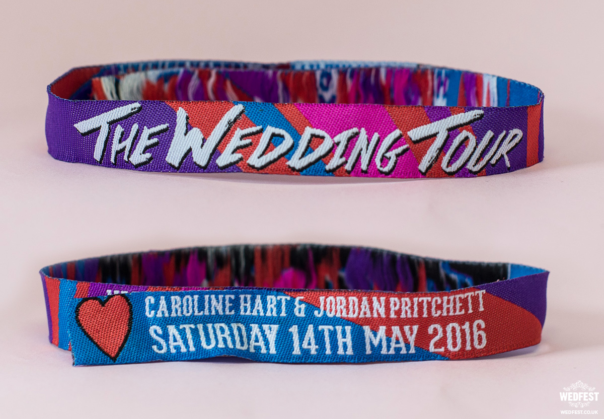woven fabric wedding festival wristbands