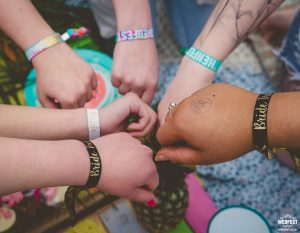 classy festival hen party wristbands