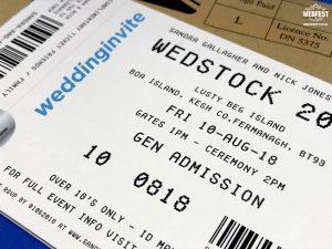 concert gig ticket wedding invitation ticketmaster