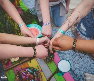 festival brides hen party glamping wristbands