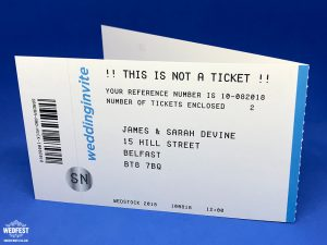 gig ticket concert ticketmaster wedding invites