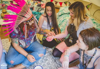 glamping hen party accessories
