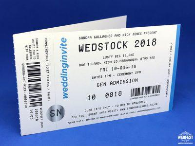ticketmaster style concert ticket wedding invitation