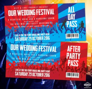 wedfest concert tickets wedding party invites