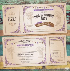 Ticket Style Wedding Invites VINTAGE