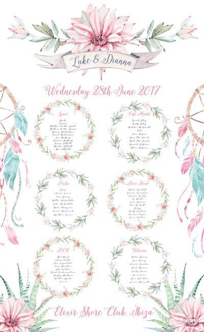 ibiza wedding elixir shore club wedding seating table plan